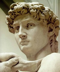 Michelangelo's David close up
