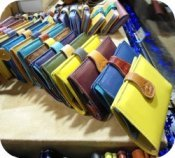 Florence Shopping - Handmade leather bags and goods - Gioia Chiara colored wallets