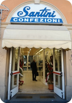 Florence Shopping - Italian Clothes for men - Santini