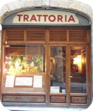 Most Florence restaurants are 'trattoria' like this one