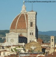 The Duomo and Campanile in Florence from SESTO terrace, you feel like you can reach out and touch it!