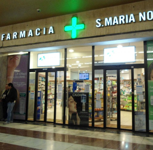 The pharmacy near the exit at the Florence station