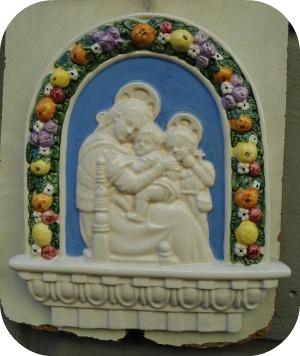 Florence and Deruta Ceramics - Della Robbia style ceramic work