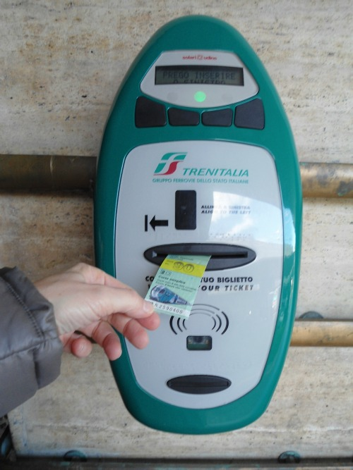 Remember to stamp your ticket using the validation machines at the head of platforms at the Florence station