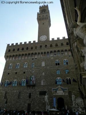 home of the Republic of Florence, Palazzo Vecchio in piazza Signoria