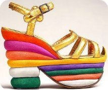 Florence Museums - the Ferragamo Museum - multicolored sandals made for Judy Garland