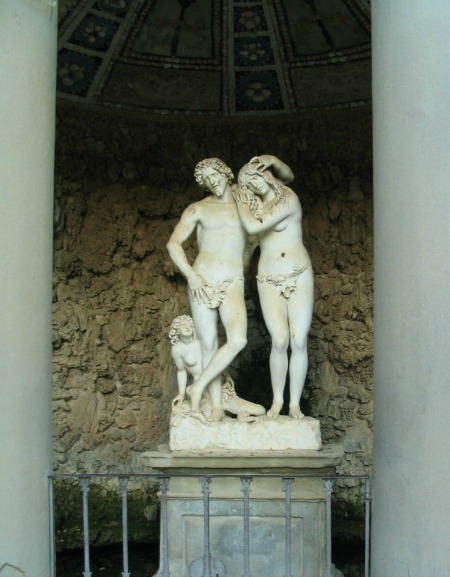 Grotta of Adam and Eve at the gardens
