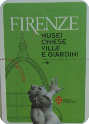 Booklet about Florence museums, churches, villas and gardens
