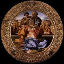 Michelangelo's Tondo Doni at Uffizi Gallery
