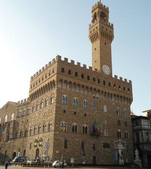 Palazzo Vecchio in Piazza Signoria Florence Italy