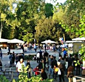 Outdoor market called 'Cascine in Fiera' in Spring