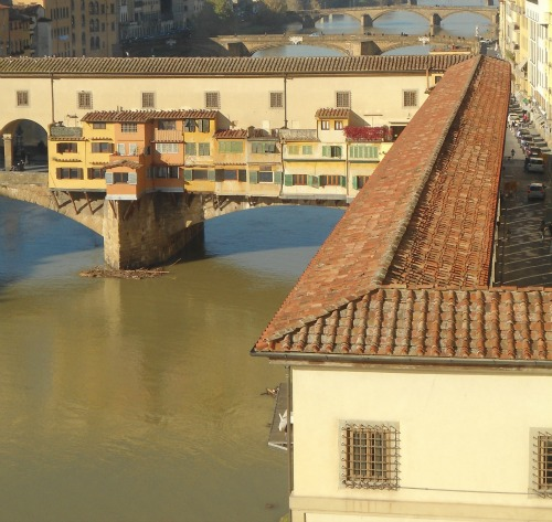 Vasari Corridor leading off Uffizi Gallery Florence