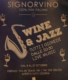 Enjoy a Wine & Jazz night at Signorvino