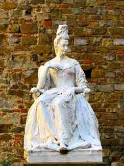 The last heir of the Medici family, Anna Maria Luisa de Medici who is celebrated in Florence in February