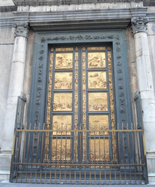 replicas of Ghiberti's bronze doors - the 'Gates of Paradise', the originals are in the Cathedral Museum