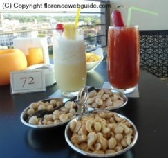 Some cool drinks on a terrace bar