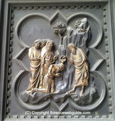 Pisano panel disciples baptised