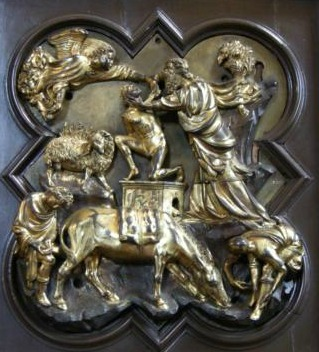 Brunelleschi's panel, runner-up in the competition