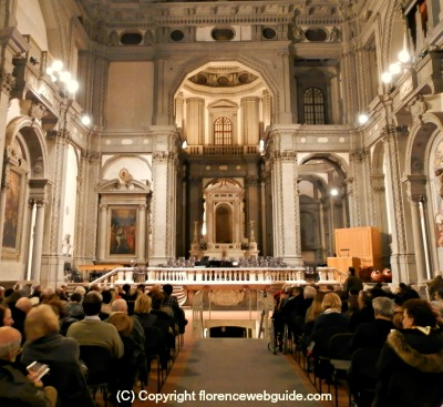 Church of Santo Stefano just off the Ponte Vecchio, venue for some of the best of classical music in Florence