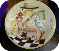 Florence and Deruta Ceramics - Carnesecchi custom made plate