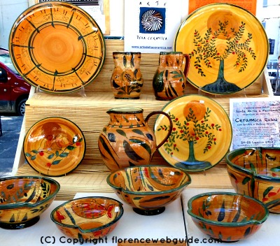 Stall at the ceramics fair in Florence