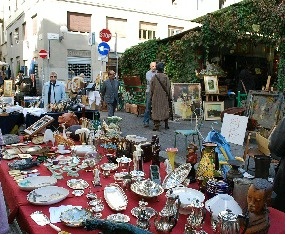 The Florence antiques market in piazza dei Ciompi is a long standing tradition