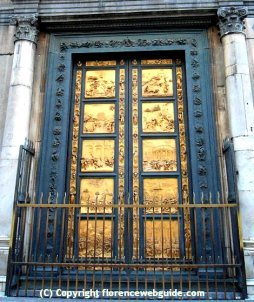 Replicas of Ghiberti's famous bronze doors, the 'Gates of Paradise' on the Baptistery of Florence