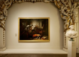 Room in Palazzo Corsini where antique fair is held