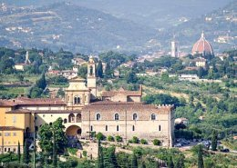 View of Florence with Certosa and the Duomo from Villa Castiglione