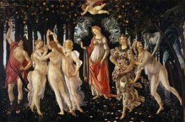 Botticelli Primavera at Uffizi Gallery Florence