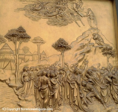 Ghiberti's panel of Moses on Mt. Sinai