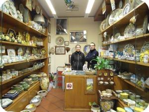 Florence and Deruta Ceramics - Carnesecchi interior