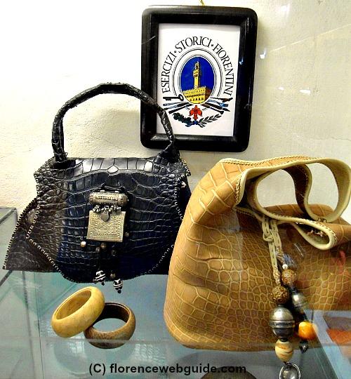 Handmade crocodile bags at the Santa Croce leather school