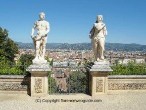 The terrace of the Bardini garden overlooks Florence