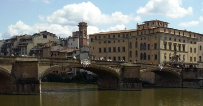 view from Hotel Berchielli along the Arno