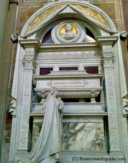 Not a Florentine, Gioacchino Rossini was nevertheless buried amongst the Italian elite in Santa Croce