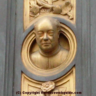 Ghiberti's self portrait on the 'Gates of Paradise'