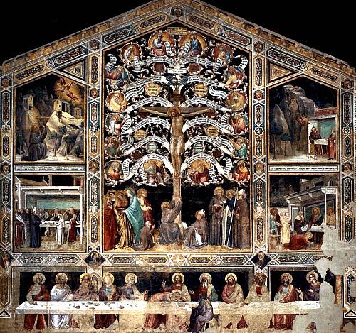 Wall fresco by Taddeo Gaddi