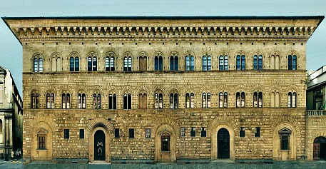 Palazzo Medici Riccardi exterior, home to Lorenzo the Magnificent and a young Michelangelo too (built circa 1435)