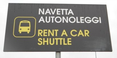Shuttle bus stop to rent a car locations