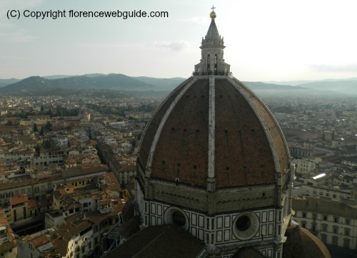 Florence cathedral dome from above