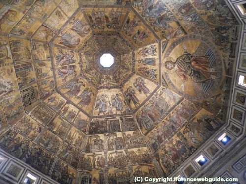 Gold Byzantine mosaic ceiling