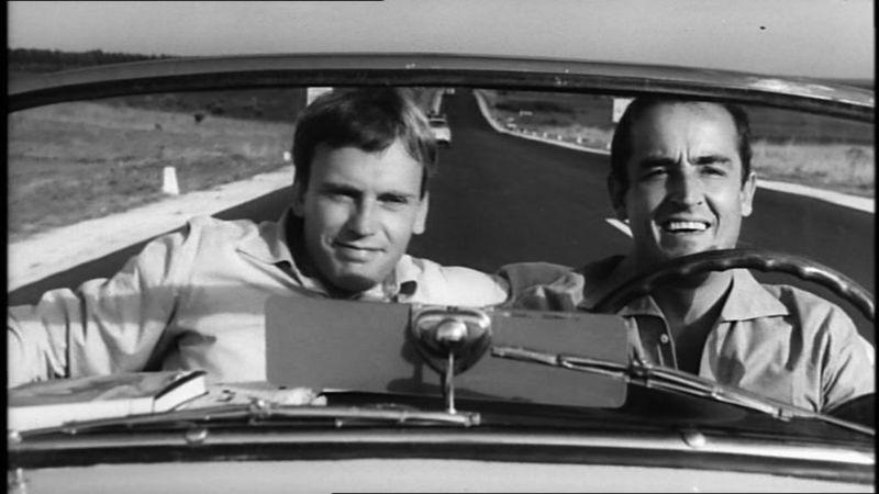 Scene from 'Il Sorpasso' with Vittorio Gassman