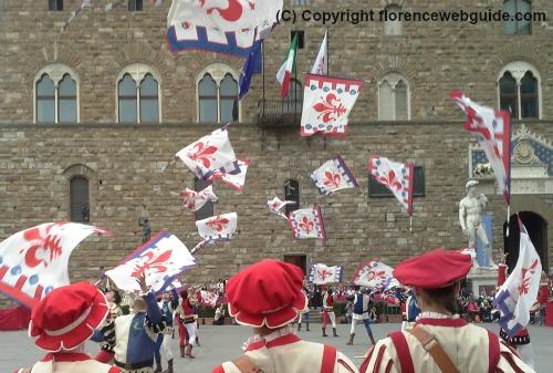 Sbandieratori degli Uffizi, the city's flag throwing team