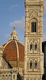 History of Florence - Giotto Bell Tower and Brunelleschi Dome