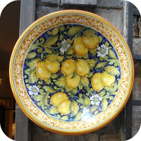 Florence and Deruta Ceramics - Platter with lemons