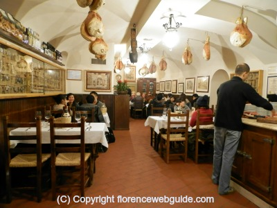 Latini has a typical Tuscan trattoria interior