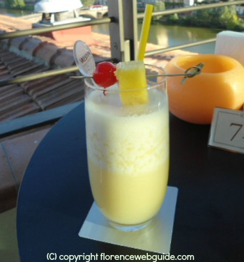 Pina Colada at cocktail hour in Florence