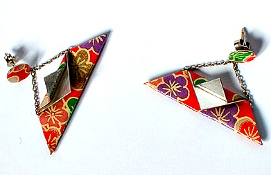 Fun colorful and original earrings designed and made by Silvia Nesti