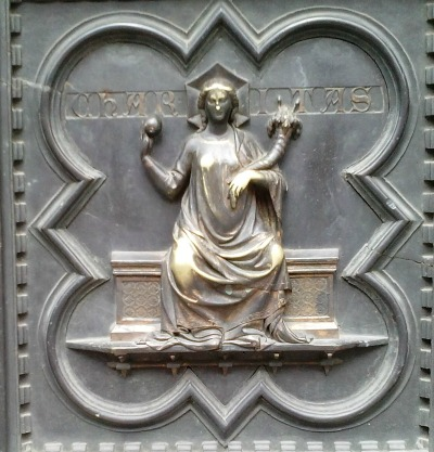 Bronze panel from door of Florence baptistery
